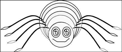 spider outline coloring page image gallery spider outline