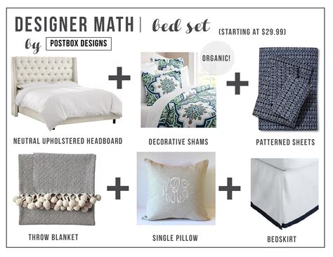parts of the bed designer math mondays bedding set postbox designs