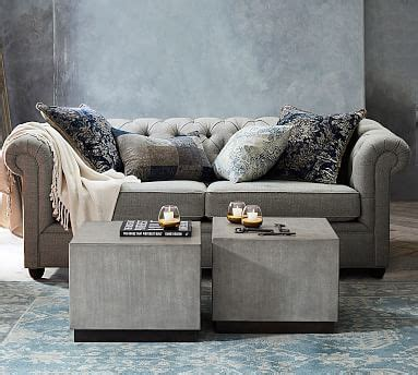 chesterfield upholstered sofa pottery barn