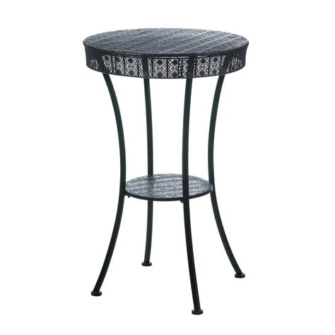 Black Wrought Iron Patio Table Wholesale Wrought Iron Accent Table Black Metal Moroccan Style Outdoor Patio Table With Lower Shelf