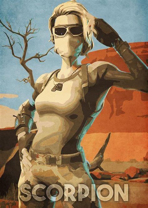 scorpion  durro art metal posters art game art