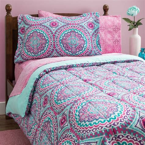 twin bed comforters sets girls bedding twin bed in a bag 2 sheet sets reversible
