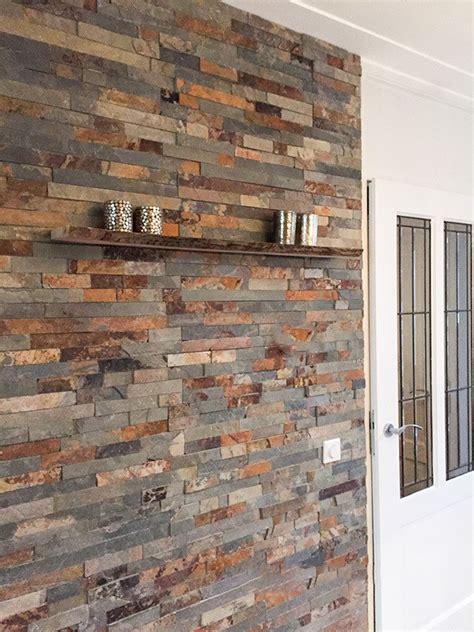 achterwand keuken leisteen natuursteen strips wandbekleding leisteen rusty megadump
