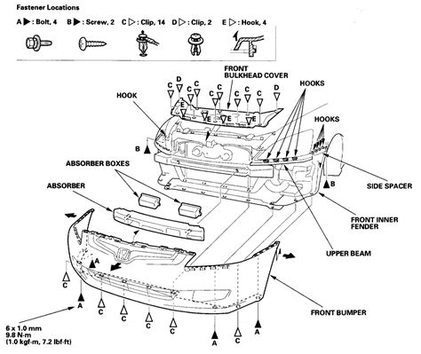 schematics and diagrams honda headlight assembly removal