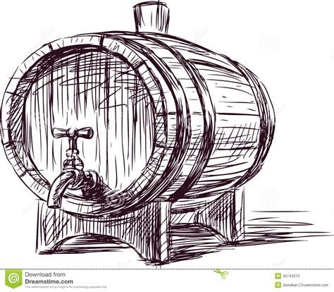 sketchbook vector wine cask stock photos image 30743273