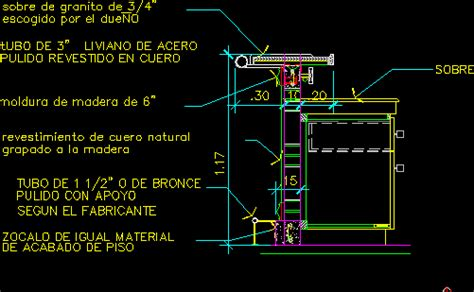 Kitchen Cabinet Construction Details Bar Furniture Section In Autocad Drawing Bibliocad