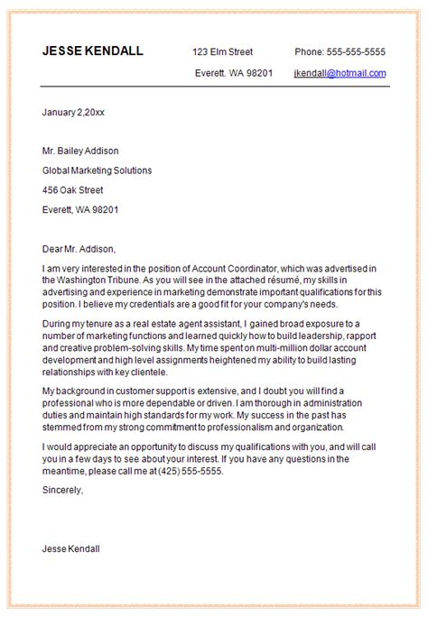 cover letter examples for marketing marketing cover letter
