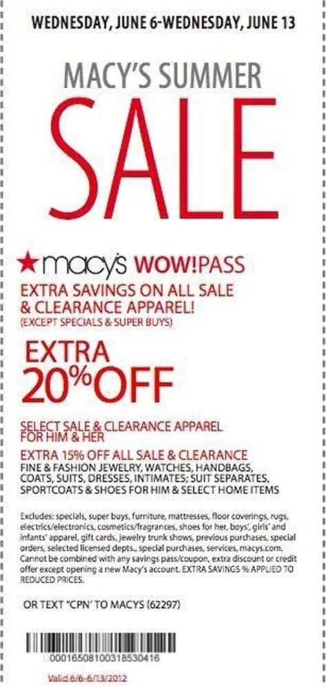 20 sale clearance printable coupon at macy s wayne