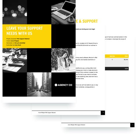 design collaboration proposal web support retainer proposal template free sle
