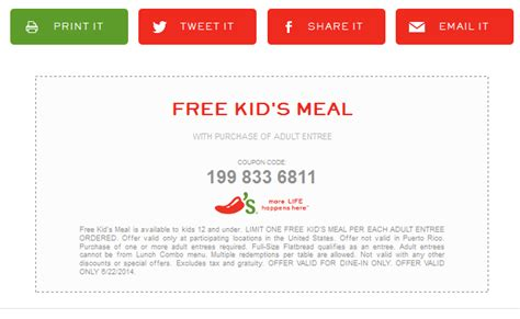 chilis to go coupon 2017 chilis coupons free meal with yours today at chilis