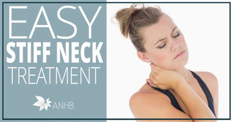 easy stiff neck treatment all home and
