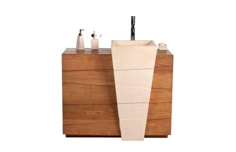 meuble de salle de bain design ethnique en teck et