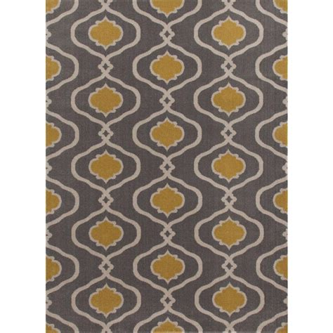 gray yellow area rug world rug gallery moroccan trellis modern gray yellow 5 ft 3 in x 7 ft 3 in area rug 115