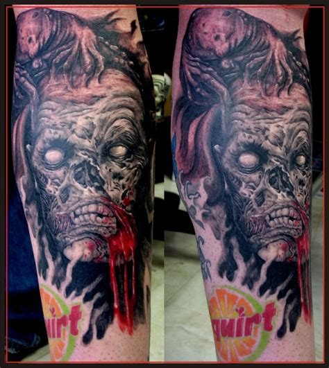 zombie tattoo ink realistic zombie tattoo designs sick tattoos blog and