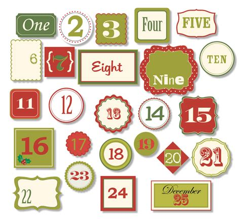 printable christmas numbers 1 25 7 best images of christmas printable number tags free