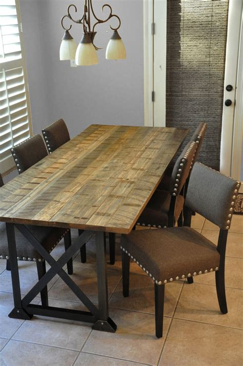 Etsy Reclaimed Wood Dining Table The Spann Dining Table Reclaimed Wood Dining Table