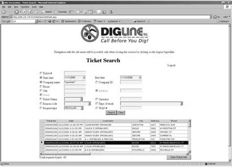 Ticket Number Search Ticket Search Guide Idaho Diglineidaho Digline