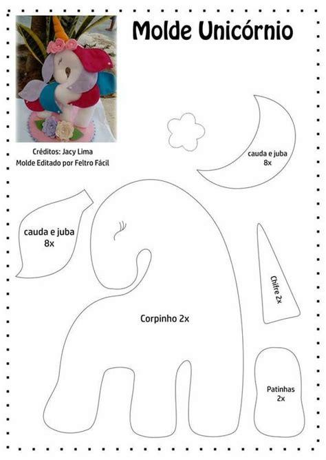 patrones de fieltro gratis para imprimir buscar con unicornios de fieltro con moldes gratis para imprimir