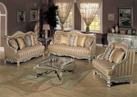 Ornate Living Room Furniture by Estonia Ornate Formal Living Room Chaign Platinum Gold