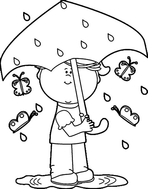 coloring pages with rain rain coloring page coloring home