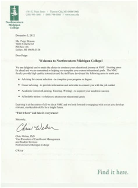 Offer Letter Of Canadore College Artifacts Henson