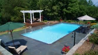 Inground Pool Patio Ideas Waterfall Swimming Pool Design Square Swimming Pool Designs
