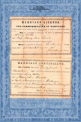 Kent Marriage Records Hickman County Kent 1868 Marriage Record Lewis