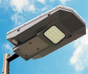 Solar power as a source of electricity for powering outdoor lights has