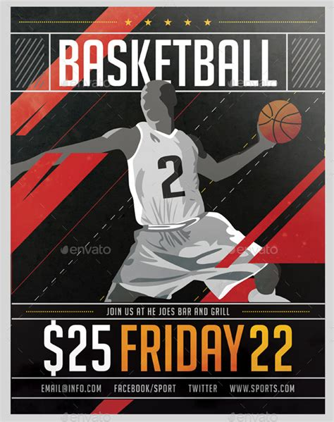 advertising posters templates 25 basketball poster templates free premium