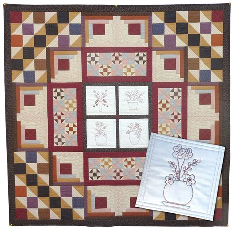 Patchwork Shops - autumn vases quilt the country yard patchwork shop