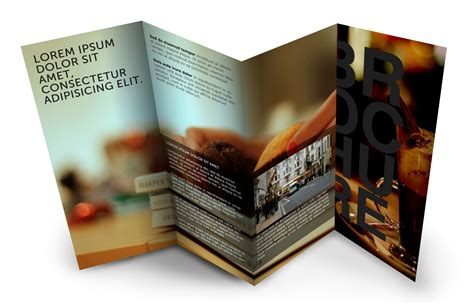 Online Brochure Templates Free – Professional Business Three Fold Flyer Template Stock
