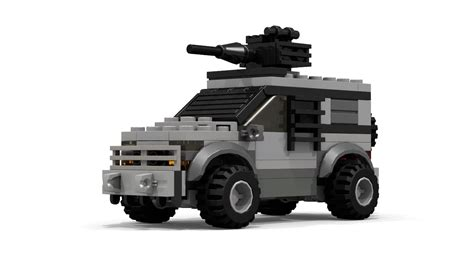 lego army vehicles moc lego car with gun