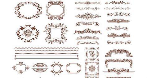 ornaments frames borders vector templates