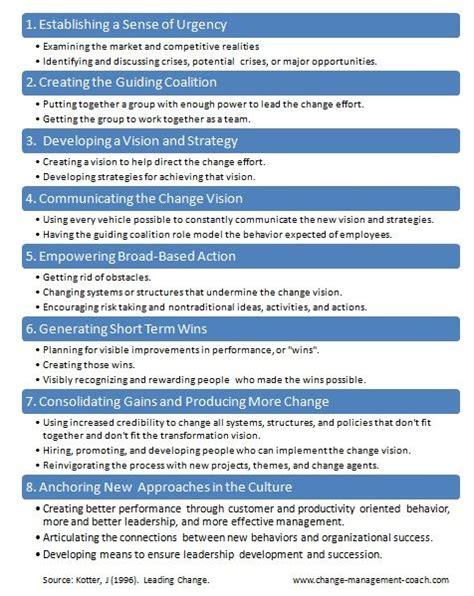 kotter culture john kotter updated 8 step process of change change