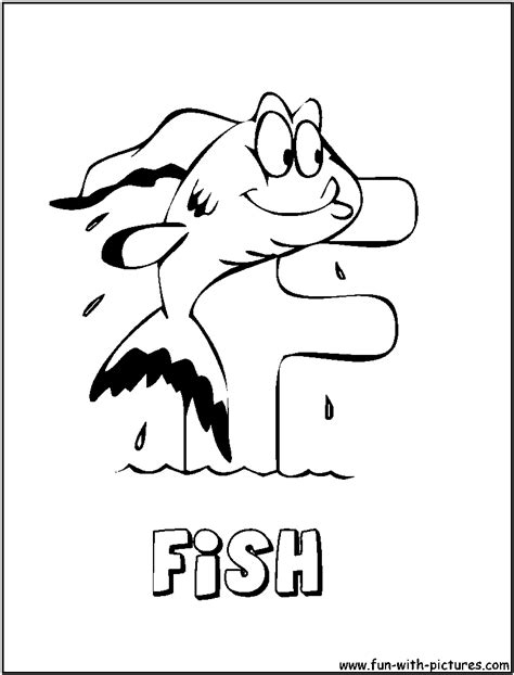 f is for fish coloring pages