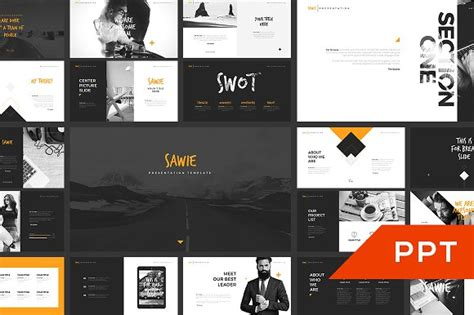 Sawie Powerpoint Template Presentation Templates Creative Market Creative Powerpoint Templates For Mac