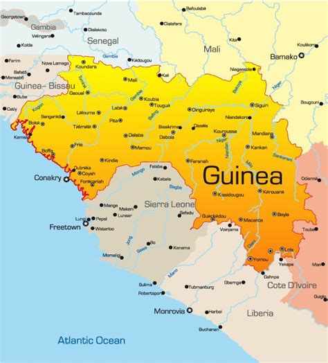 25 best ideas about africa map on guinea map my
