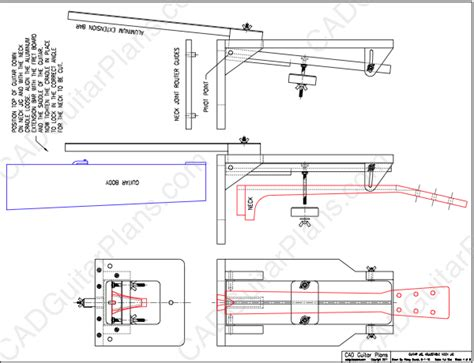 joint layout plan pdf guitar neck joint alignment jig plan cad guitar plans
