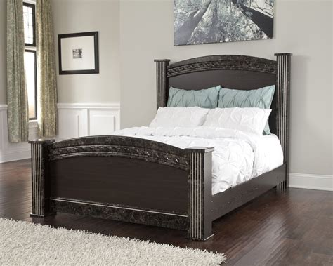 dark wood headboard queen vachel dark brown wood queen full poster headboard panel