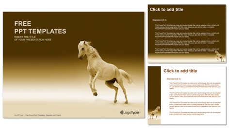 powerpoint themes horse nice horse nature powerpoint templates