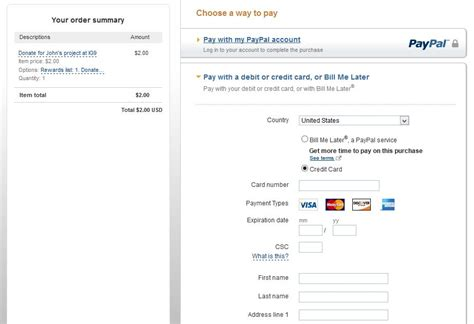 Credit Card Transaction Format Php Payment With Paypal And Other Credit Card Options Stack Overflow