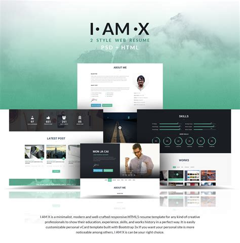 i am x html resume template awesome html web templates free templates design