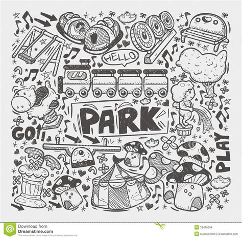 doodle element doodle playground element royalty free stock images