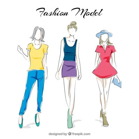 fashion pattern freepik fashion models vector free download