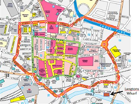printable map leeds city centre your sheffield transport solutions page 218 skyscrapercity