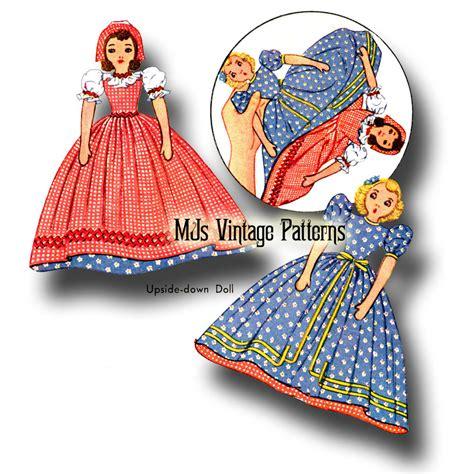 vintage pattern shop ebay vintage 1940s pattern upside down topsy turvy cloth doll