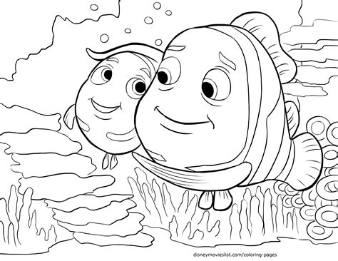 finding nemo coloring pages finding nemo characters