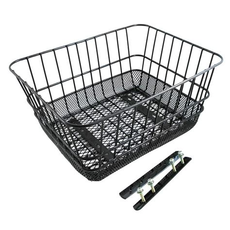 sunlite rear wire mesh rack top basket bicyclebuys