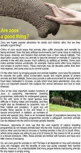 For And Against Zoos Essay by Are Zoos A Thing Learnenglish Council