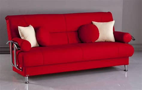contemporary futon red futon sofa bm furnititure